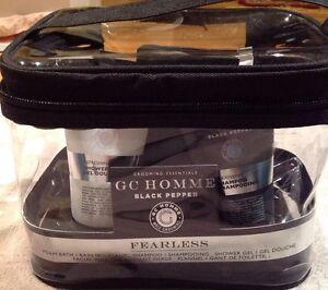 Grace Cole Homme Black Pepper Fearless Male Grooming/Bath Kit