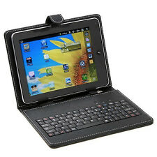 "New!! PU Leather USB Keyboard Case Cover Skin Bag for 10"" 10.1"" 10.2"" Tablet PC"