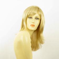 Perruque femme mi-longue blond doré méché blond très clair  CARLY 24BT613