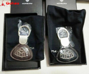 Genuine Mercedes Benz Maybach Nappa Leather Key Ring Keyring Chain Brown & Black