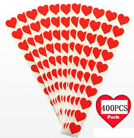 400Stk Herz Herzen Sticker Belohnung Aufkleber Rot Liebe Herz Scrapbooking Dekor