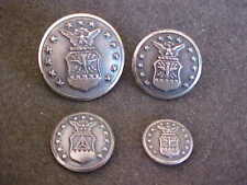 LOT OF 4 US AIR FORCE UNIFORM BUTTONS 4 SIZES ALL MARKED WATERBURY