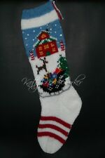 Pattern Only Hand Knitted Christmas Eve at the North Pole Stocking