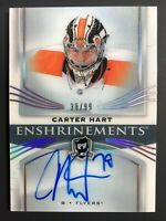 2018-19 Upper Deck The Cup Carter Hart Enshrinements Rookie Auto /99