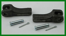 """Weld On Safety Chain Retainer for 3/8"""" Chain Truck Trailer Hitch 2 PC."""