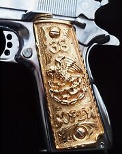 1911 Cachas 38 Super Pistol Grips Colt Government 24K Gold Plated Free Screws