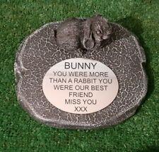 Rabbit Large Pet Memorial/headstone/stone/grave marker/memorial rb1