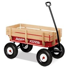 Radio Flyer All Terrain Steel & Wood Kinder Wagen