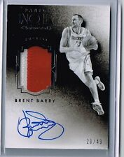Brent Barry 2015-16 Noir 2-Color Patch Auto Card /49 Rockets