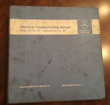 1983 MERCEDES ELECTRICAL TROUBLESHOOTING MANUAL MODELS 107,123,126