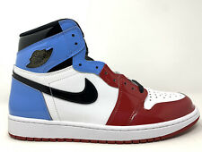 "2019 Air Jordan 1 OG High ""UNC To Chicago"" Size 12 WHITE RED BLUE CK5666 100"
