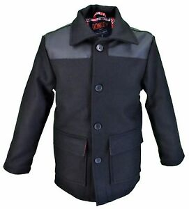 Relco Delux Donkey Jacket with PVC Shoulders Red Tartan Lining