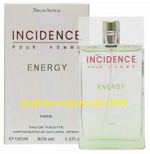 INCIDENCE ENERGY POUR HOMME YVES DE SISTELLE FOR MEN 3.3 OZ 100 ML EDT SPRAY NIB