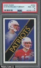 2000 Fleer #352 Tom Brady New England Patriots RC Rookie PSA 8 NM-MT