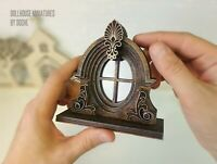 VICTORIAN Dollhouse Window - Decorative windows - Dollhouse miniatures