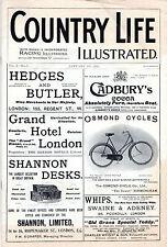 """Faksimile der ersten Ausgabe von """"Country Life"""" (1897) - Jockeys & Cadzow Rinder"""