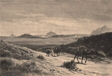 Tunisian landscape - View from the Tellat pass 1885 old antique print picture