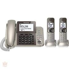 Wireless Home Phone Digital Answering System Panasonic Cordless Corded 2 Handset