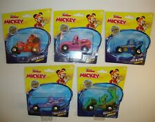 DISNEY JUNIOR MICKEY AND THE ROADSTER RACERS 5 WOODEN CARS NEW