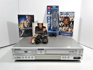 Samsung DVD-V2500 DVD-VCR Combo Player VHS Recorder Hi-Fi Stereo +REMOTE+EXTRAS