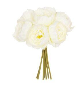 26cm Cream Ivory Peony or Rose x 7 Posy SILK Flower  WEDDING