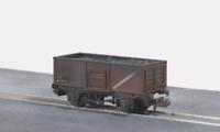 Peco NR-44FW N Gauge BR Bauxite Steel Mineral Wagon Weathered