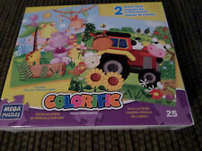 Mega Puzzles Colorific 2 Puzzle Pack Color Reference Chart Age 3+ New Sealed
