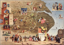 Pictorial Literary Map The tale of Ivanhoe Wall Art Poster Print Literature