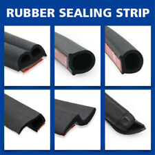 4 10M Car D P Z Shape Rubber Seal Insulation Sealing Trim Adhesive Door Edge UK
