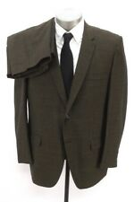mens brown shimmer VINTAGE 60s 2pc PANT SUIT wool retro two button 44 R