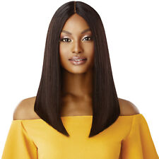 """STRAIGHT BLUNT CUT BOB 16"""" - OUTRE UNPROCESSED HUMAN HAIR LACE PART WIG"""