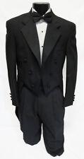 43S Black Wool Chaps Formal Tuxedo Tailcoat Debutante Penguin Swallow Tails Coat