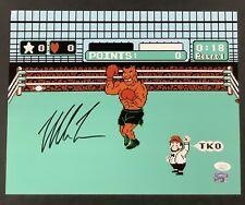 Mike Tyson Signed Photo 11x14 Boxing Autograph Punch Out Iron Mike HOF JSA