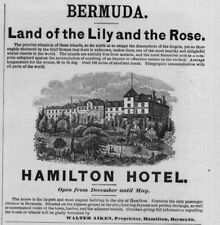 HAMILTON HOTEL HEALTHY WINTER RESORT IN BERMUDA LAND OF THE LILY AND THE ROSE