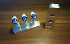 Zahnbürstenhalter für 3 Oral-B Bürsten Bad deco aus Aluminium, Toothbrush-holder