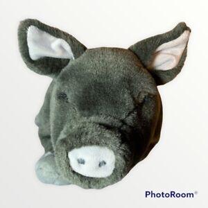 "Dakin Huggables Bertha The Pig Bean Bag Plush Stuffed Animal Plush Toy 14"" Gray"