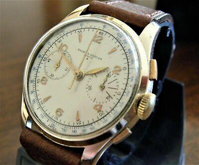 Cronografo Baume & Mercier Laminato Oro Chronograph Gold Filled Vintage