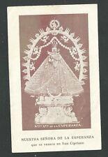 estampa antigua de la Virggen de la Esperanza santino holy card image pieuse