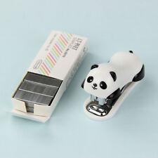 Cute Panda Mini Stapler Staples Set Office Stationery Paper Binding Binder Book