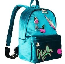 Betsey Johnson Baby's Got Back Aqua Blue Velvet Backpack With Appliques NWT $118