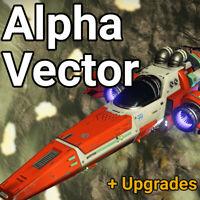 No Mans Sky Alpha Vector Fighter Ship v2 + UPGRADES! - XBOX, PC, PS4 & PS5
