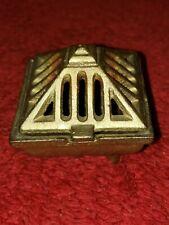 Vintage Vantines Gold Square Cast Iron Incense Burner 574/2