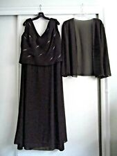 52cbb6cca80 JADE BY JASMINE ~ MOTHER OF THE BRIDE DRESS AND JACKET - CHOCOLATE  BROWN~SIZE