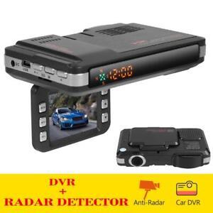 720P Car Dash Cam + Car GPS Speed Police Safe Radar Detector Voice Alert Laser