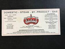 1928 SOVEREIGN POCAHONTAS COAL GAS CO BLUEFIELD W VA CROWN BLOTTER ORIGINAL RARE