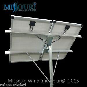Top of Pole Solar Panel Mounting Rack Fits (2) 100 Watt Solar Panels