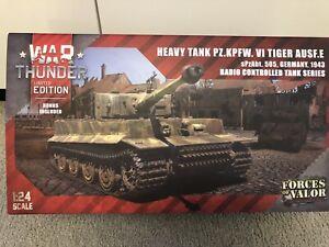 Forces Of Valor War Thunder Ltd Editon Tank PZ.KPFW. VI TIGER AUSF.E 1:24 Scale