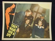 Allan Lane They Made Her A Spy 1939 Lobby Card VF Mystery Crime Thriller