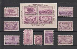 US,772-775,776-778,782-784,MNH ,VF,1935-1936 COMPLETE SET,MINT NH