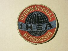 petit patch INTERNATIONAL HIGH SPEED ASSOCIATION IHSA vintage USA patch 61mm